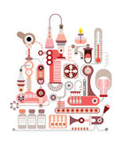 Chemical Laboratory vector illustration Stock Photo