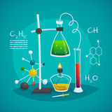 Chemical Laboratory Workspace Design Concept Stock Image