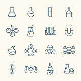 Chemical line icons Royalty Free Stock Photography