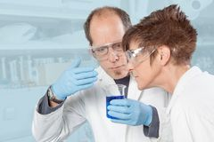 Chemical Liquid smelling Stock Photos