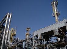 Chemical manufacturing. Royalty Free Stock Images