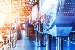 Chemical Manufacturing Industrial Equipment Royalty Free Stock Image