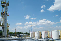 Chemical manufacturing plant construction Stock Photos
