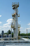 Chemical manufacturing plant construction Stock Photography