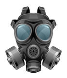 Chemical mask. On a white background Stock Images