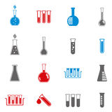 Chemical and medical flask icons. Stock Image