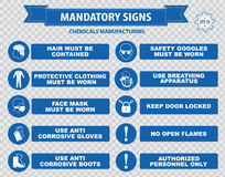 Chemical or Medical Mandatory sign Royalty Free Stock Photo
