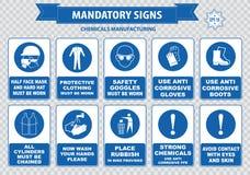 Chemical or Medical Mandatory sign Royalty Free Stock Photo