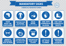 Chemical or Medical Mandatory sign Royalty Free Stock Photography