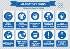 Chemical or Medical Mandatory sign Stock Photos