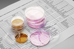 Chemical and microbiological analysis Stock Image