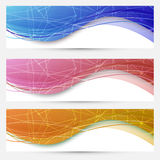 Chemical molecular web banners set Stock Photos