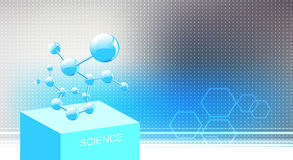 Chemical Molecule. Molecule structure, vector chemistry science background vector illustration