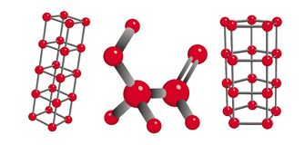 Chemical molecules royalty free stock photography