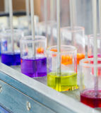 Chemical multi color for textile dye Stock Photos