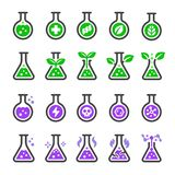 Chemical and non chemical icon set vector illustration