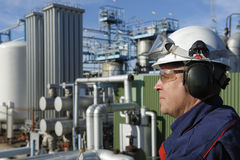 Chemical oil and gas engineer Royalty Free Stock Photos