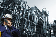 Chemical oil and gas engineer Royalty Free Stock Images