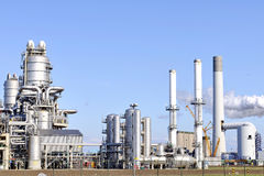 Chemical and  oil refinery. Chemical and oil refinery in the harbor of rotterdam netherlands Royalty Free Stock Image