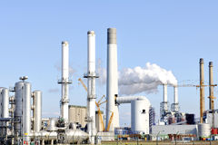 Chemical and  oil refinery. Chemical and oil refinery and oil depot storage tanks Stock Image