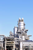 Chemical and  oil refinery. Chemical and oil refinery and oil depot storage tanks Royalty Free Stock Photos