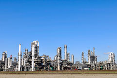 Chemical and  oil refinery. Chemical and oil refinery and oil depot storage tanks Stock Images