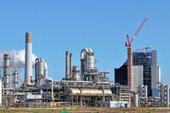 Chemical and oil refinery Royalty Free Stock Image