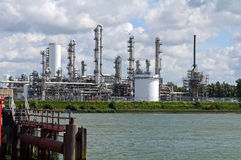 Chemical and oil refinery. In the port of rotterdam Royalty Free Stock Photography