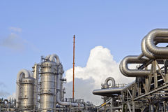 Chemical and oil refinery Royalty Free Stock Photography