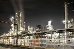 OMV oil refinery in night Stock Images