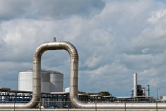 Chemical and oil refinery in the port of Royalty Free Stock Photos