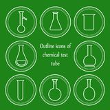 Chemical outline test tube Royalty Free Stock Photography