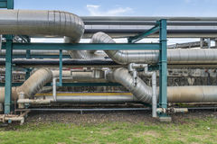 Chemical pipe line transfer Royalty Free Stock Photo