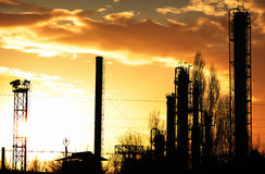 Chemical Plant. A chemical plant in the city of Ploiesti, Romania royalty free stock photos