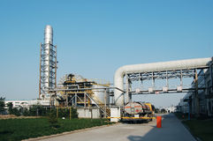 Chemical plant. Entrance of an chemical plant royalty free stock photos
