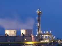 Chemical Plant. Part of a chemical plant Stock Photos