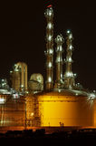 Chemical plant. Chemical production facility at night Royalty Free Stock Image