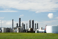 Chemical Plant. A refinery for producing chemical products Royalty Free Stock Image