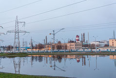 Chemical plant in Belarus Stock Image