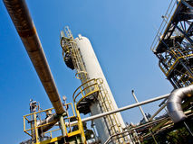 Chemical plant with blue sky 2 Royalty Free Stock Photo