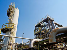Chemical plant with blue sky 3 Stock Images
