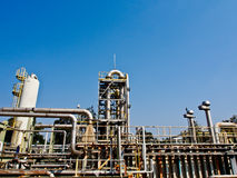 Chemical plant with blue sky 4 Stock Photo