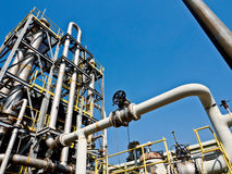 Chemical plant with blue sky 5 Royalty Free Stock Photos