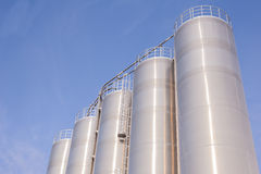 Chemical plant, containers Royalty Free Stock Images