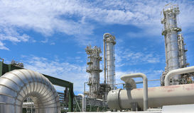 Chemical plant on day time Royalty Free Stock Photos
