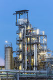 Chemical Plant Detail At Night Stock Photography