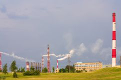 Chemical plant in Grodno Belarus Royalty Free Stock Photos