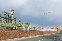 Chemical Plant In Frankfurt Stock Image
