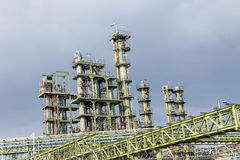 Chemical Plant In Frankfurt Royalty Free Stock Image