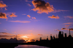 Chemical Plant. On the Manchester Ship Canal. Runcorn, Cheshire, England Stock Image